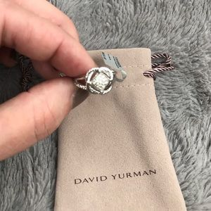 New David Yurman Petite 7mm Diamond Infinity Ring